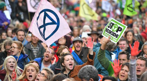 Policing the Extinction Rebellion protests has cost Scotland Yard £37m so far this year (Dominic Lipinski/PA)