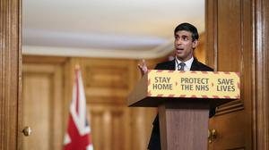 Chancellor Rishi Sunak speaking during a media briefing in Downing Street (Andrew Parsons/10 Downing Street/Crown Copyright)
