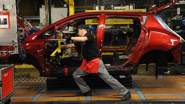 Manufacturing output has slumped (Anna Gowthorpe/PA)