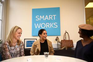 The Duchess of Sussex during a visit to Smart Works in London (Clodagh Kilcoyne/PA)