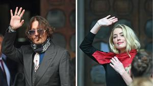 Composite of actor Johnny Depp and actress Amber Heard arriving at the High Court in London for a hearing in his libel case against the publishers of The Sun and its executive editor, Dan Wootton.