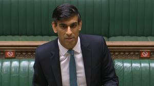 Chancellor Rishi Sunak delivers his one-year Spending Review (House of Commons/PA)