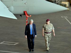 Michael Fallon said UK personnel 'have played a tireless role in striking targets and training allies' (Nick Ansell/PA)