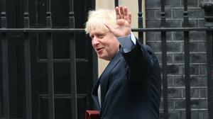 Boris Johnson departs 10 Downing Street to attend Prime Minister's Questions at the Houses of Parliament (Yui Mok/PA)