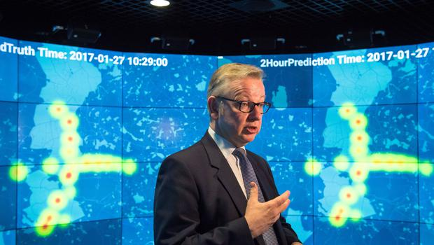 Environment Secretary Michael Gove during a visit to the Data Science Institute at Imperial College, London (Dominic Lipinski/PA)