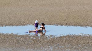 Crosby beach had its own oasis (Peter Byrne/PA)