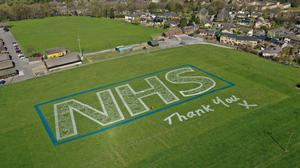 The field art piece celebrating the NHS (Sand In Your Eye/PA)