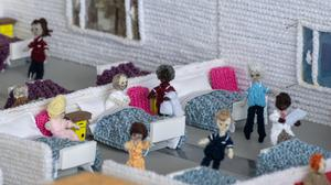 A woollen masterpiece called the Knittingale Hospital, which has been knitted by Margaret Seaman (Joe Giddens/ PA)