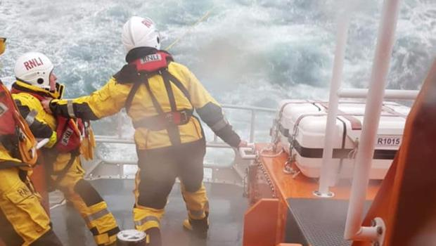 The crew faced challenging conditions (RNLI/PA)