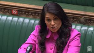 Home Secretary Priti Patel spoke to MPs about progress being made in learning from the Windrush scandal (House of Commons/PA)