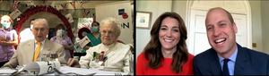 Care home residents James Pyett and Thelma Hobden were chosen to have an online chat with the Duke and Duchess of Cambridge. BBC/Kensington Palace