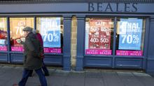 Beales has said it plans to shut its remaining stores after entering administration last month (Steve Parsons/PA)