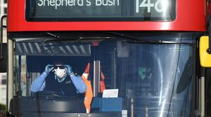 A trial to change the way passengers board buses in London is to be introduced following the deaths of 14 transport workers in the capital (Victoria Jones/PA)