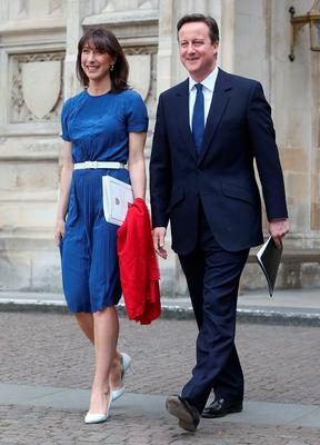 Prime Minister David Cameron and wife Samantha at the VE Day 70th anniversary service at Westminster Abbey yesterday
