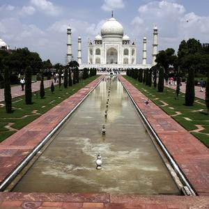 Reports have claimed that the woman leapt from a hotel room window in Agra after a man forced his way in
