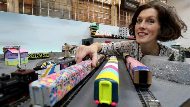 Pam Glew puts the final touches to Urban Miniatures (Gareth Fuller/PA)