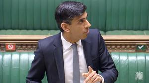 Chancellor Rishi Sunak has promised billions to prop up the economy during the shutdown (House of Commons/PA)