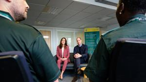 Kate and William with frontline NHS staff (PA)