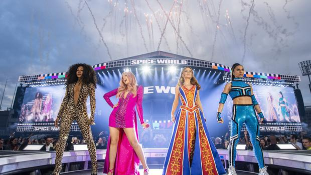 The Spice Girls are set to play at Wembley (Andrew Timms/PA)