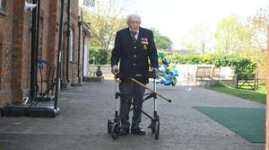 Captain Tom Moore, 99, will continue his charity walk, despite already raising millions for the NHS (Joe Giddens/PA)