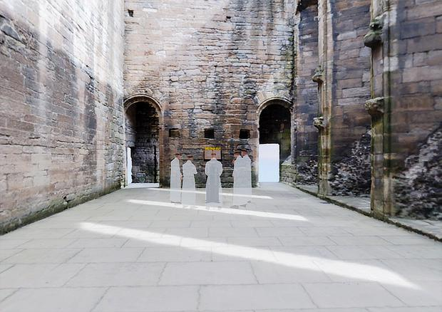 The chapel is now a ruin (James Cook/University of Edinburgh/PA)