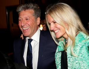 Cleared: DJ Neil Fox leaves court with his wife Vicky