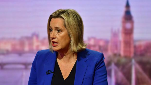 Amber Rudd appeared on The Andrew Marr Show to voice her concerns over the sacking of moderate MPs (Jeff Overs/BBC)