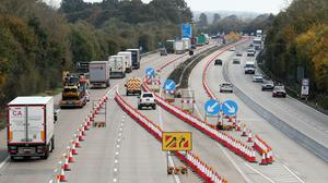 The roadwork-riddled M20 has been rated England's worst motorway (Gareth Fuller/PA)