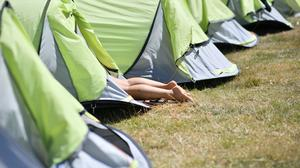 Campsites are experiencing a surge in bookings after health officials indicated they could be lower risk holiday destinations than hotels (Ben Birchall/PA)
