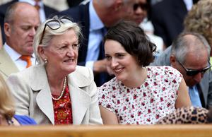 Phoebe Waller-Bridge is among the stars in the Royal Box on Centre Court (Steve Paston/PA)