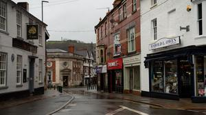 Newtown in Powys pictured in January 2021 (Jacob King/PA)