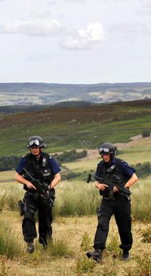 Armed police from around the country joined the hunt for Moat (Danny Lawson/PA)