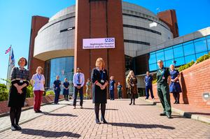 NHS staff recruited to run the new NHS Nightingale Hospital Yorkshire and Humber in Harrogate (Simon Dewhurst/NHS England/PA)