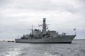HMS Montrose drove off Iranian patrol boats after they approached a British tanker in the Strait of Hormuz (Steve Parsons/PA)