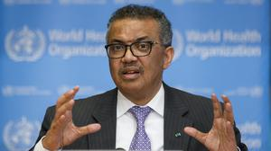 Dr Tedros Adhanom Ghebreyesus, director general of the World Health Organization (PA)