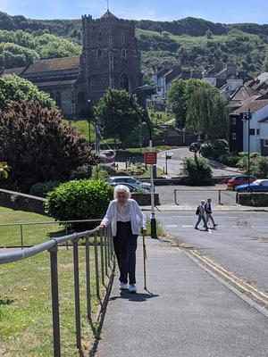 Joan Willet has been using the hill to keep fit for years (British Heart Foundation)