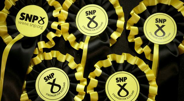 Support for the SNP is at 44%, a new poll suggests (Jane Barlow/PA)