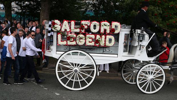 The funeral procession of Paul Massey in Salford in 2015 (Peter Byrne/PA)