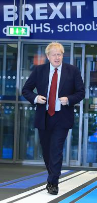 Prime Minister Boris Johnson at the Tory conference (Peter Byrne/PA)