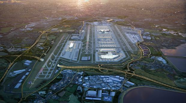 Image of Heathrow expansion master plan (Grimshaw Architects/PA)