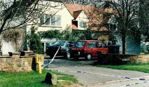 The Driveway of the Brown's home during the police investigation 25 years ago (Thames Valley Police/PA)