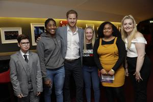 The Duke of Sussex meeting nominees, winners and performers at the inaugural OnSide Awards at the Royal Albert Hall in London in November (Matt Dunham/PA)