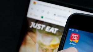 A view of the Just Eat mobile phone app (Joe Giddens/PA)