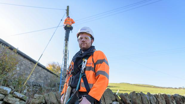 The work will build on trials which have seen engineers develop new techniques to help Openreach extend its full-fibre network into areas previously considered too complex or expensive to upgrade (Openreach/PA)