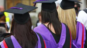 """File photo dated 16/07/08 of university graduates. Students are being warned to watch out for a fresh wave of bogus tax refund emails – which often contain """"scam warnings""""."""