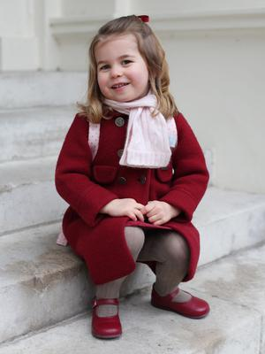 Princess Charlotte on her first day of nursery (HRH The Duchess of Cambridge 2018/PA)