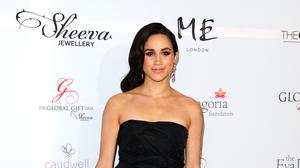 Meghan Markle pictured attending the Eva Longoria Global Gift Gala in central London, in 2013