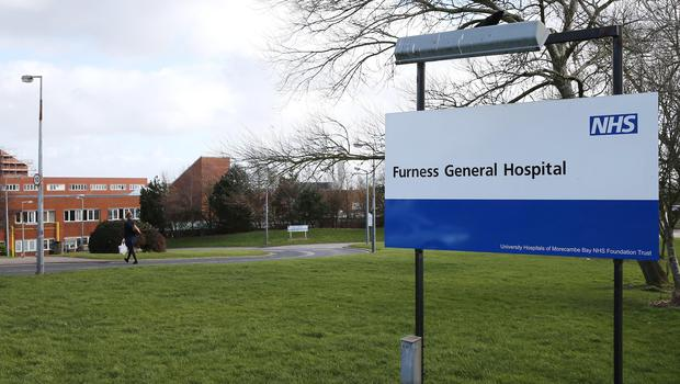Furness Hospital in Barrow, which is at the heart of the Morecambe Bay Investigation (PA)