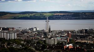 A view of the Tay Bridge from the top of Dundee Law, Dundee (Jane Barlow/PA)