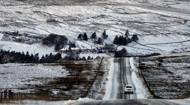 'Rural areas are most at risk of seeing heavy frost with Enniskillen expected to see the mercury sink as low as -5C' (stock photo)